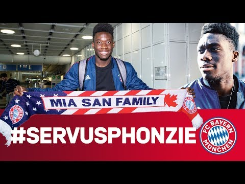 Alphonso Davies: First Day at FC Bayern!