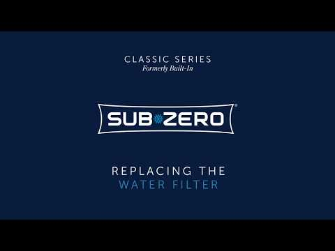 Sub-Zero Classic Formerly Built-In - How To Replace the Water Filter