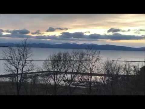 Spectacular Sunset over Lake Champlain on Periscope 1/7/17