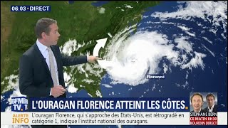Comment progressent l'ouragan Florence et la tempête Isaac ?