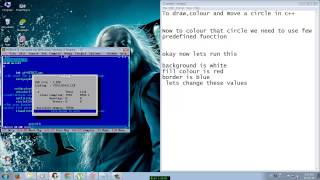 How To Draw A Moving  Circle in Turbo C++