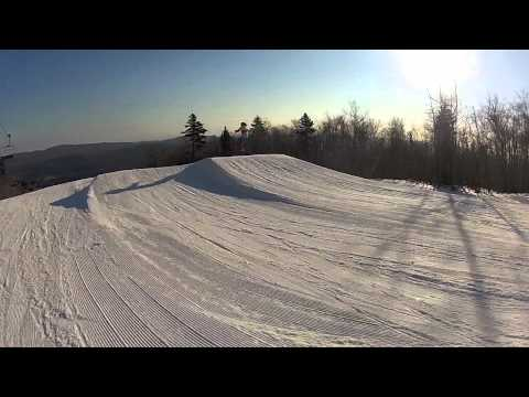 This is the terrain park at Mount Hood.