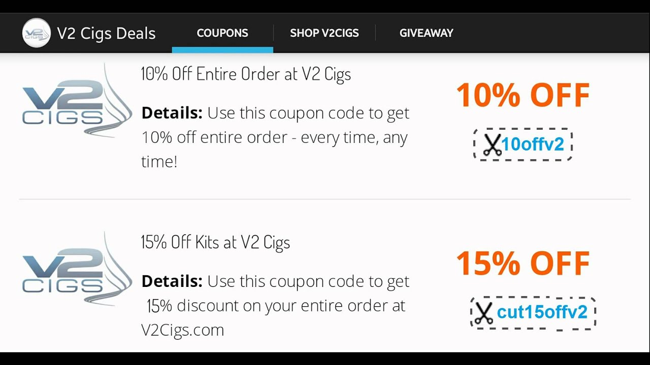 e538128a V2cigs Coupon Code That Will Never Expires 2015 - YouTube