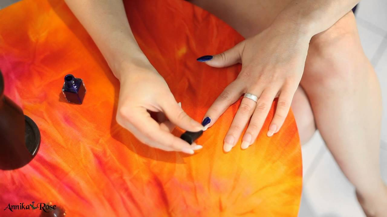 fingern gel lackieren dunkelblau youtube