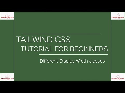 Tailwind CSS Tutorial for Beginners- Part7:Width Classes thumbnail