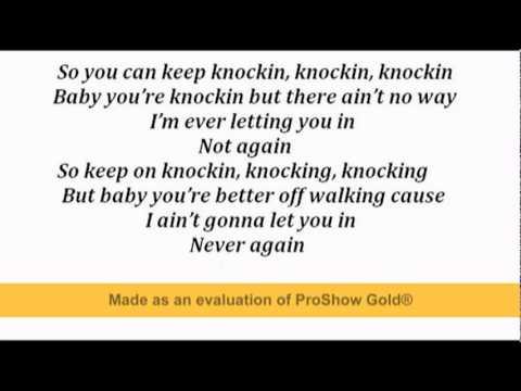 Freddie Stroma- knockin' lyrics