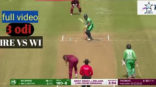 Ireland Vs West Indies 3 Rd Odi 2020 Match Full Highlight | Ire Vs Wi 3rd Odi Match Review |