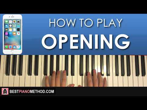 HOW TO PLAY - iPhone Ringtone - Opening (Piano Tutorial Lesson)