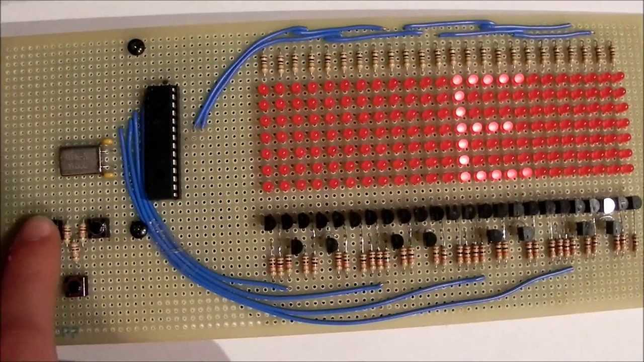 Display Led Programmable Using Pic16f876 Youtube Circuit Diagram Shows The Required 8051 Microcontroller