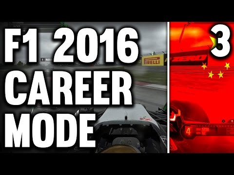 F1 2016 ULTIMATE CAREER MODE PART 3: CHINA [WET WEATHER]