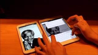видео iPad 3 против Samsung Galaxy Tab 2 10.1 - Кто лучше? Сравнение!