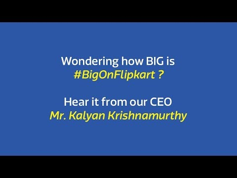 Something so BIG, even our CEO is intrigued ! #BigOnFlipkart
