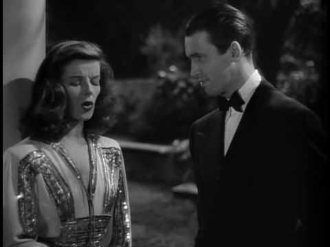 "Hepburn & Stewart in ""The Philadelphia Story"""