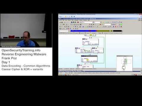 Reverse Engineering Malware Day 1 Part 10: Data Encoding - Common Algorithms - Caesar Cipher & XOR