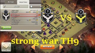stronge war TH9 super star wars vs clan of China has 57 consecutive victories .clash of clans coc