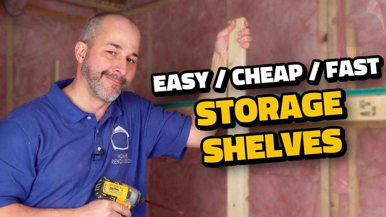 Simple DIY Storage Shelves