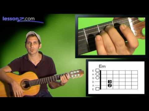 E-Moll Gitarre - 5 Übungsschritte