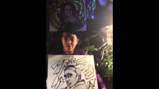Happy 2B Nappy Show: Tupac Drawing By Artist B. Curtis is A Big Hit :)