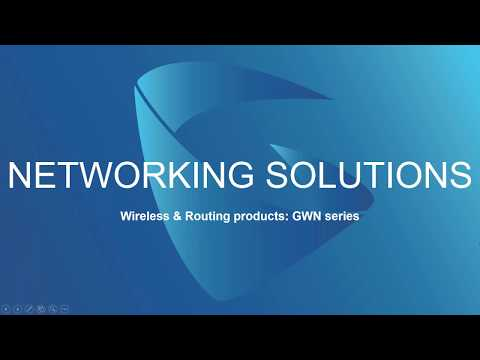 Grandstream Networking Solutions  Access Points Webinar