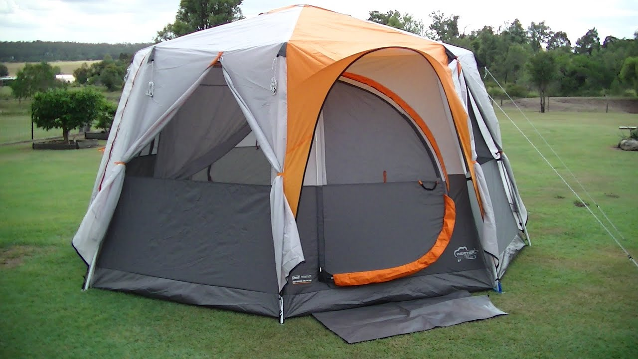 Coleman OCTAGON 98 TENT with Full Fly ~ Easy SETUP and Review - YouTube & Coleman OCTAGON 98 TENT with Full Fly ~ Easy SETUP and Review ...