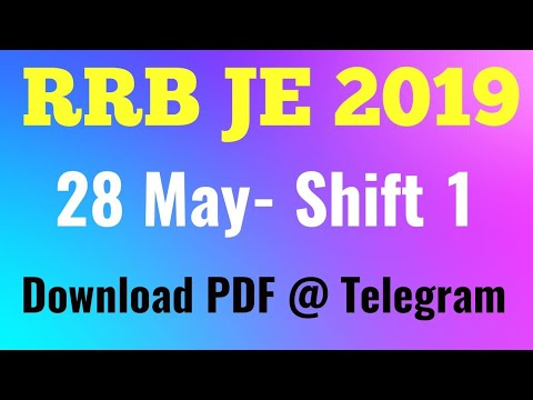 RRB JE 2019 (28 May Shift-1) CBT-1 Exam Analysis, Asked Question RRB JE 28 May - edujosh
