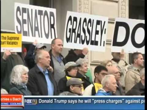KDSM: Iowans Tell Grassley 'Do Your Job', Hold SCOTUS Hearing
