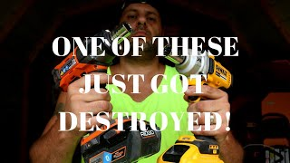 RIDGID Vs. Dewalt One Of These Impact Wrenches just got DESTROYED! TOOL DUEL! #ridgid #dewalt
