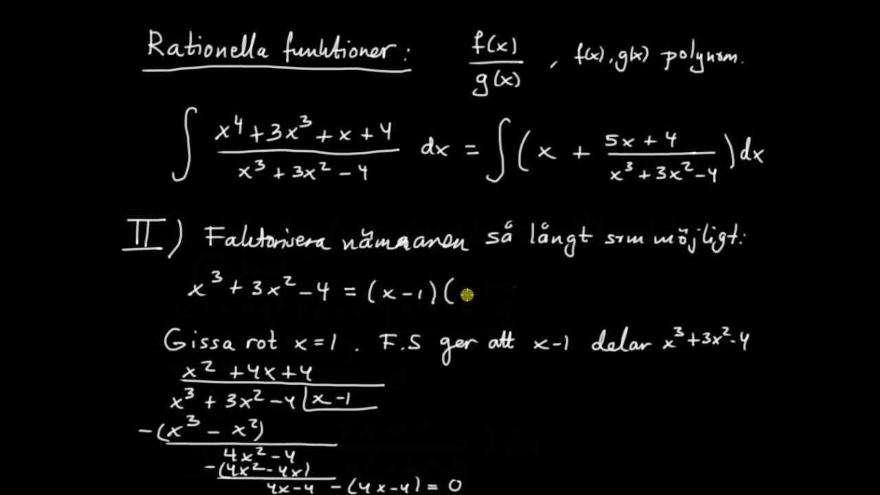 Primitiva funktioner del 8 - introduktion till rationella funktioner