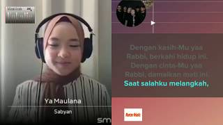 Download lagu Nissa Sabyan - Ya Maulana (video karaoke duet bareng artis) smule cover