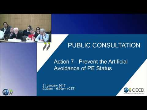 BEPS Action 7 Public Consultation - Prevent the Artificial Avoidance of PE Status (Morning Session)