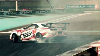 video thumbnail of Ken Gushi's RS-R Toyota Supra - Abu Dhabi Formula D