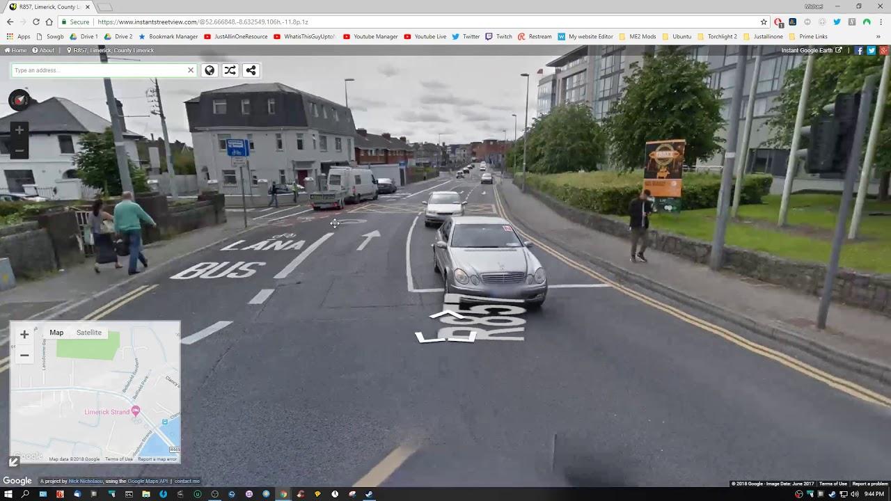 Google Street View: Arriving in the Port of Cork Ireland