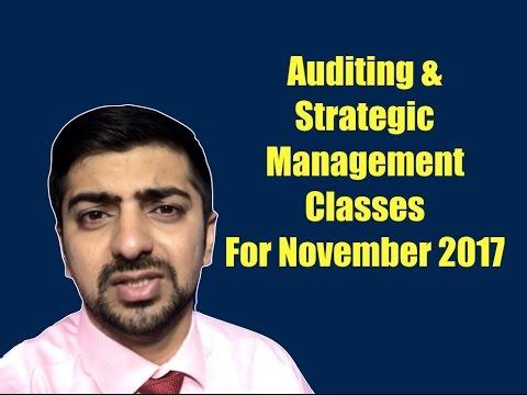 For November 2017 CA IPCC Exams Auditing & Assurance & Strategic Management Classes | Delhi