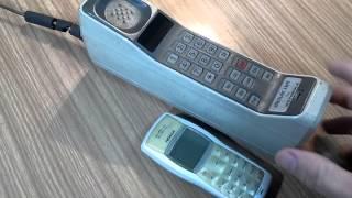 El primer teléfono celular ...!!!  Un logró impresionante de la tecnología.