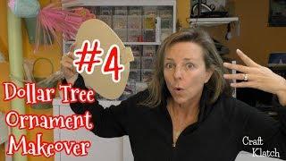Dollar Tree Ornament Makeover #4:  Gingerbread Ornament | Christmas Craft Ideas | Craft Klatch