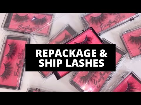 How I Repackage & Ship Out Lashes