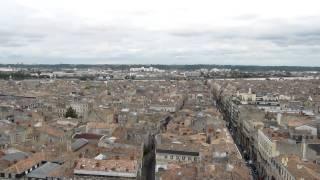 Bordeaux - Rundblick Panorama vom Tour Pey-Berland 2010, Frankreich, Gironde, Aquitanien