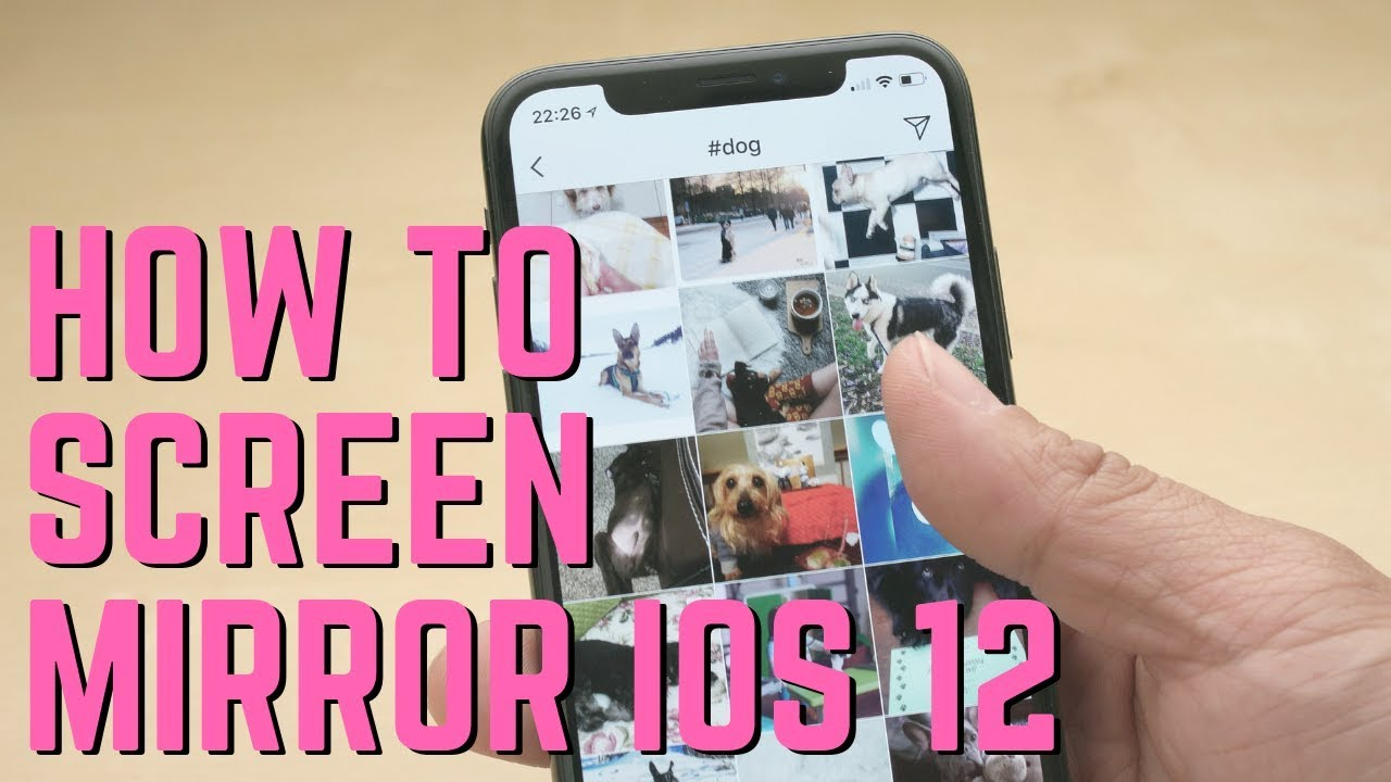 How to Screen Mirror iOS 12