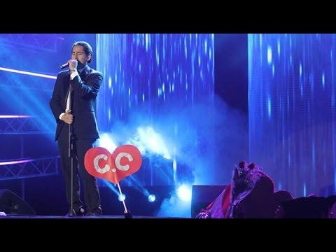 La interpretación de Cristian Castro conmovió a todo el público
