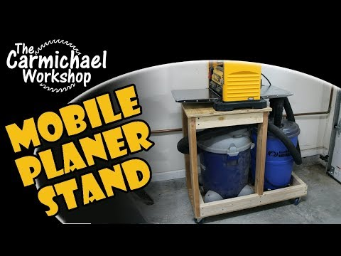 Mobile Planer Stand with Dust Collection - Woodworking Shop Project