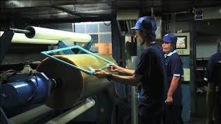 NICHIBAN Panfix cellulose tape production process at factory thumbnail