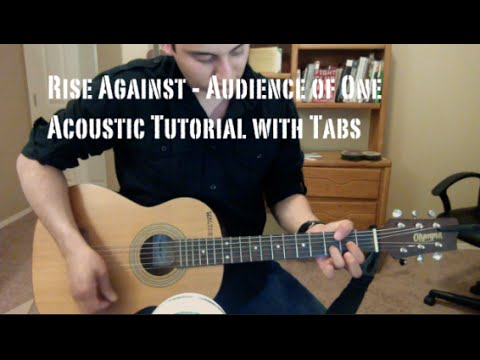 Rise Against - Audience of One (Guitar Lesson/Tutorial with Tabs)