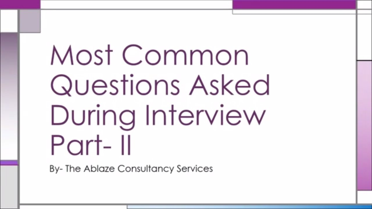 most asked interview questions and answers pdf