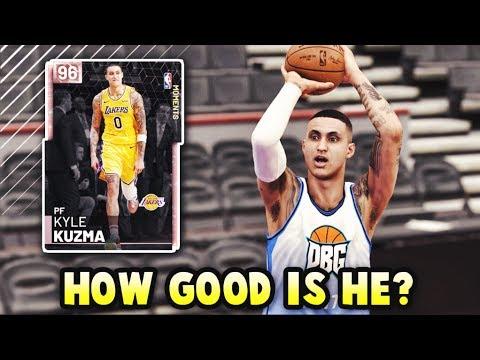 How GOOD Is Pink Diamond Kyle Kuzma ACTUALLY?? | WORTH IT In NBA 2K19 MyTEAM??