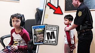 6 Year Old ARRESTED While Playing Video Games *PRANK*