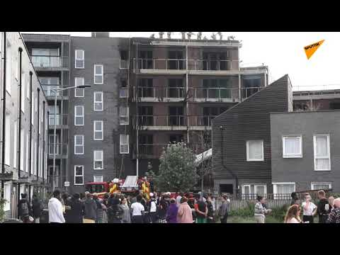 Situation Near East London Apartment Block Hit by Massive
