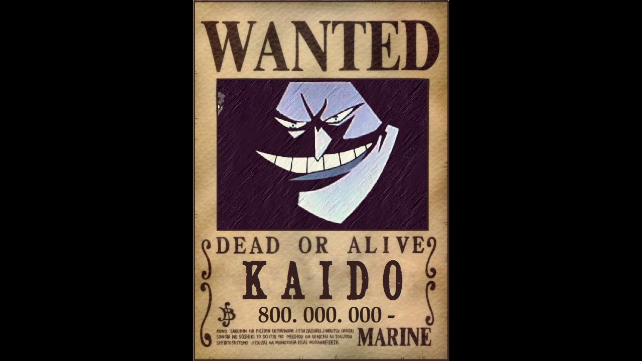one piece wanted posters 2015 2016 2017 kaido arc