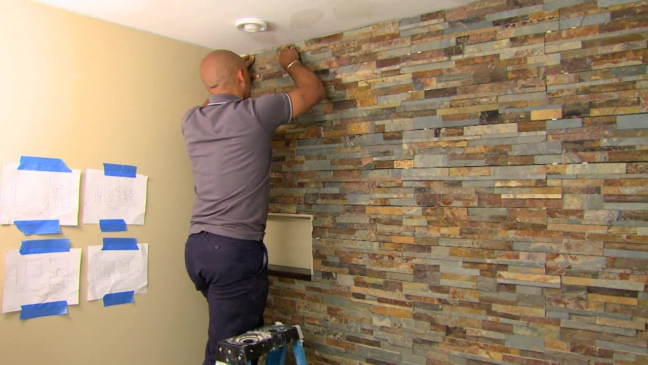 Living Room Tiles Wall Best Paint Color For Small Dark Natural Stone At Home Youtube