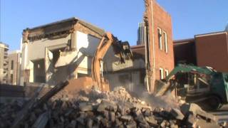 Takeuchi TL-26 Track Loader Moves Demolition Debris