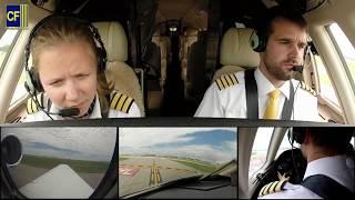 Piloten Benni und Katharina im Privatjet-Cockpit: von Amerika bis Düsseldorf - Cockpitfilme.de